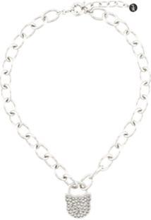 Karl Lagerfeld Choupette Lock Necklace - Prateado