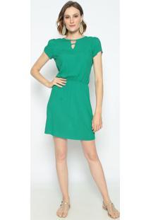Vestido Com Vazado- Verde- Vip Reservavip Reserva