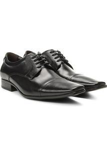 Sapato Social Couro Democrata Aspen Masculino - Masculino-Preto