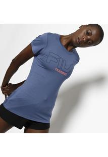 Camiseta Filaâ® Training - Azul & Rosa Neonfila