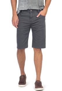 Bermuda Jeans Color Tinturada Chumbo Chumbo/38 - Kanui