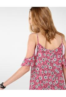 Vestido Off Shoulder Floral