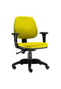 Cadeira Giratória Lyam Decor Job Amarelo