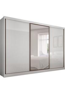 Guarda-Roupa Casal Com Espelho Spazzio 3 Pt 8 Gv Branco