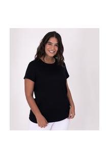 Camiseta Reta Feminina Gola C Anti Odor Super Grafite