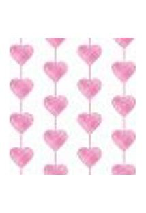 Papel De Parede Heart Curtain Pink