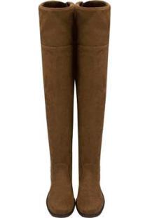 Bota Barth Shoes Agnes - Croche - 39 - Feminino-Caramelo