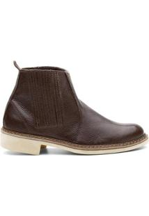 Bota Valente Boots Basic Lisa Tradicional Cano Curto Masculina - Masculino-Cafe