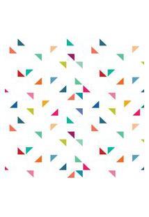 Papel De Parede Triângulos Geométricos Coloridos 57X270Cm