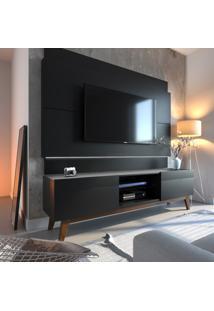 Painel Para Tv Até 60 Polegadas Classic Preto 180 Cm