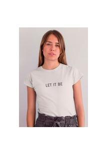 Camiseta Feminina Mirat Let It Be Branca