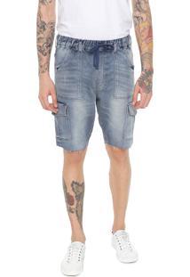 Bermuda Jeans John John Cargo Verettes Azul