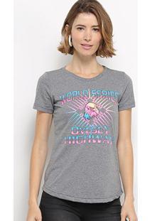 Camiseta Hapuna Baby Look World Series Feminina - Feminino-Mescla Escuro