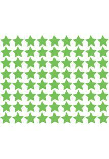 Adesivo De Parede Estrelas Verde Claro 54Un - Tricae