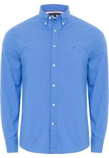 Camisa Masculina Classic Poplin - Azul