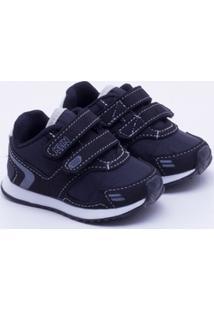0051838c20 Tênis Klin Baby Mini Walk Infantil - Masculino-Preto