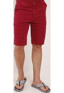 Bermuda Sarja Masculina Bivik Vermelho