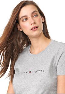 Camiseta Tommy Hilfiger Essential Crew Neck Cinza