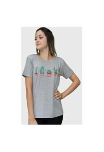 Camiseta Cactos Cinza Juliette D Bell