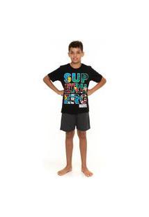 Pijama Juvenil Masculino Marvel Comics Avengers Evanilda