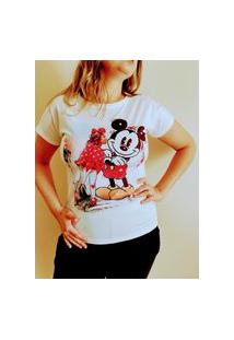 T-Shirt Feminina Customizada Com Pedrarias