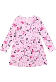 Vestido Brandili Infantil Bailarina Rosa