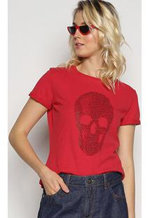 Camiseta Triton Caveira Hotfix Feminina - Feminino