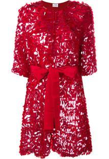 P.A.R.O.S.H. Casaco Com Cinto E Paetê - Vermelho