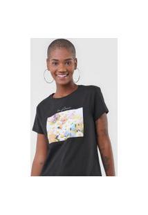 Camiseta Fiveblu La Fleur Preta