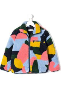 Stella Mccartney Kids Jaqueta Color Block - Azul