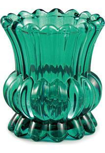 Vaso Em Relevo- Verde Escuro- 10Xø9,5Cm- Martmart