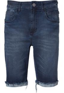 Bermuda John John Clássica Kempe Jeans Azul Masculina (Jeans Medio, 36)