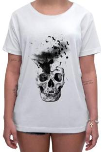 Camiseta Impermanence Estampada Caveira Feminina - Feminino