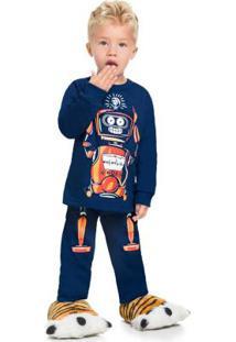 Pijama Infantil Menino Azul