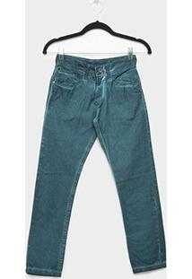 Calça Jeans Juvenil Fatal Color Estonada Masculina - Masculino