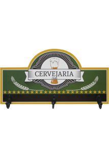 "Porta Chaves ""Cervejaria""- Verde Escuro & Amarelo Escurokapos"