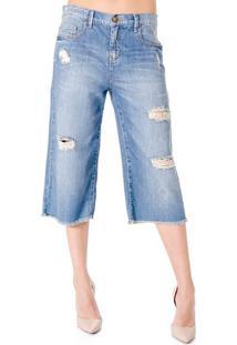 Calça Jeans Cropped Cantão