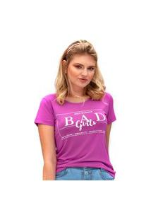 Camiseta Bad Girls Miss Glamour Store Roxo