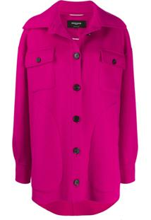 Rochas Button Up Shirt Jacket - Rosa