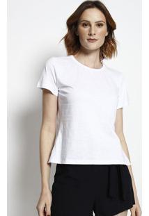 Camiseta Com Recorte- Branca- Tritontriton