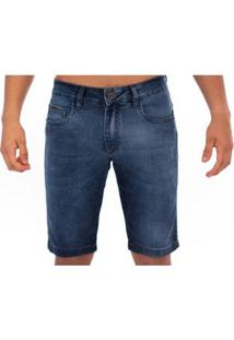 Bermuda Jean Masculino Slim Confort - Masculino-Azul