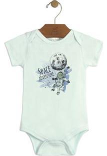 Body Bebê Estampado Azul Up Baby