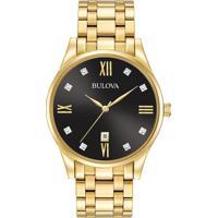 01894902f51 Relógio Vivara Masculino Aço Dourado - DS13737R0C-1. Relógio Bulova Masculino  Aço Dourado - 97D108
