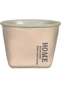 Cachepot Basic Cerâmica 9 Cm Rosa