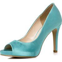 590887054 Peep Toe Azul Festa feminino | Shoes4you