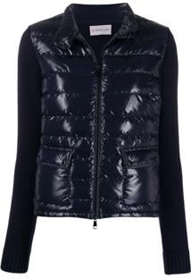 Moncler Contrast Panel Padded Jacket - Azul