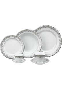Aparelho De Jantar E Chá Porcelana Schmidt 30 Peças - Dec. Saint German