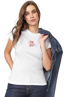 Camiseta Calvin Klein Jeans Logo Classic 5050 Branca