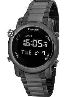 Relógio Champion Digital Feminino - Feminino-Cinza