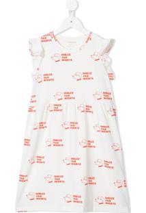 Tiny Cottons Vestido Dolce Far Niente Com Estampa - Branco